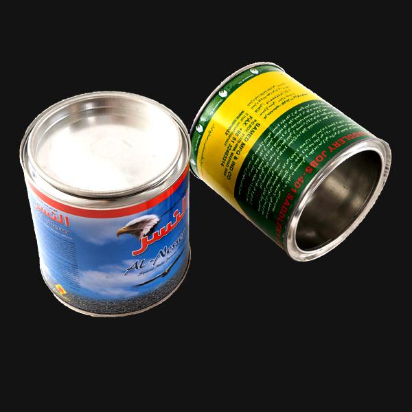 قوطی فلزی یک لیتری استوانه ایی