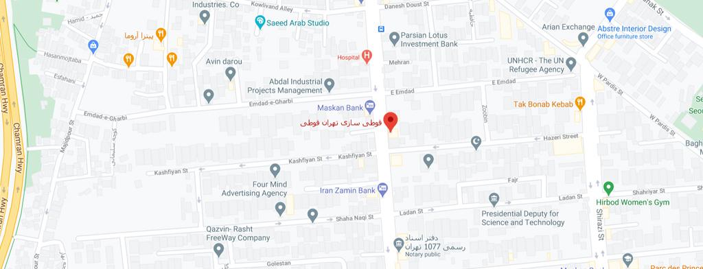 نقشه تهران قوطی